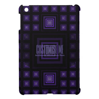 Squareception (Square Pattern) Purple iPad Mini Cases