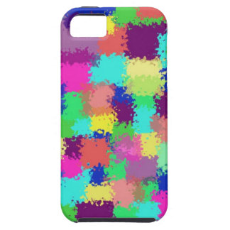 Squared Paint Splatters iPhone 5 Cover