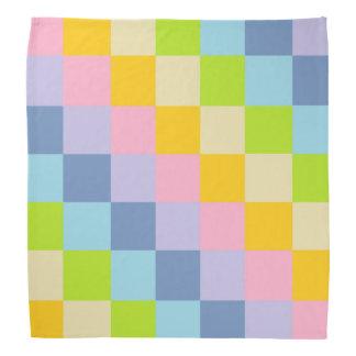 Squared Pastel Rainbow Bandana
