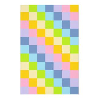 Squared Pastel Rainbow Stationery