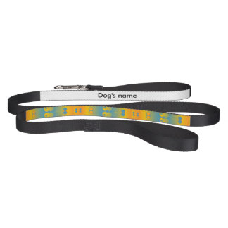 Squares and circles abstract design pet lead