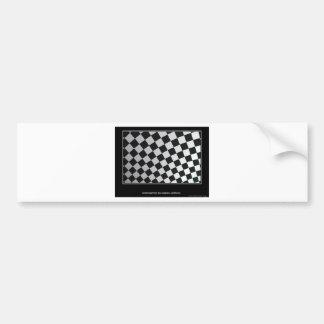 Squares black and white bumper sticker