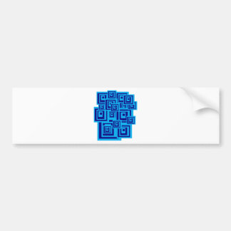 Squares Bumper Stickers