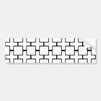Squares & Crosses Bumper Stickers