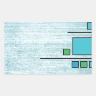 Squares Custom Design Rectangular Sticker