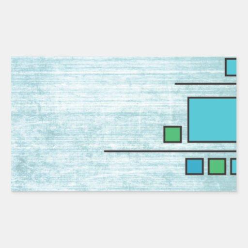 Squares Custom Design Rectangle Stickers
