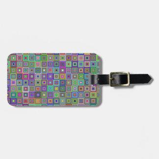 Squares Luggage Tag
