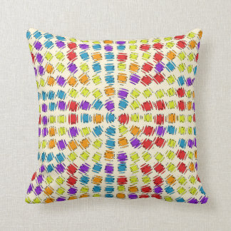 Squares of Color Vibrating Image on Accent Pillow