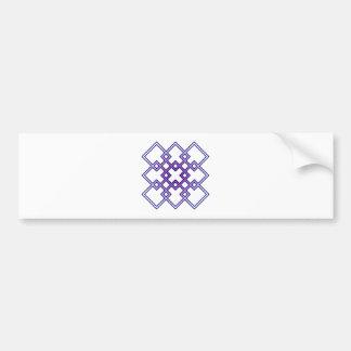 Squares of squares bumper sticker