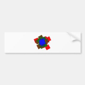Squares of squares bumper stickers