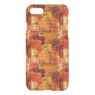 Squares on the grunge wall, abstract background iPhone 7 case