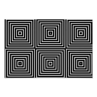 Squares optical illusion photo print