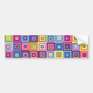 Squares Pattern Bumper Sticker