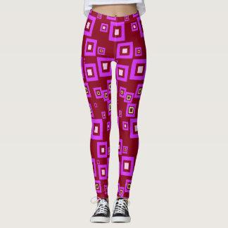Squares Pattern Leggings