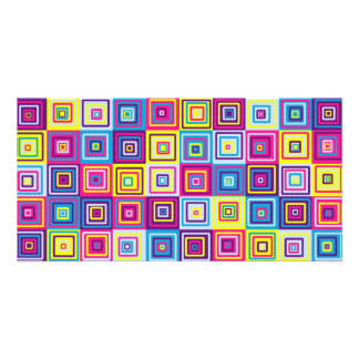Squares Pattern Picture Card
