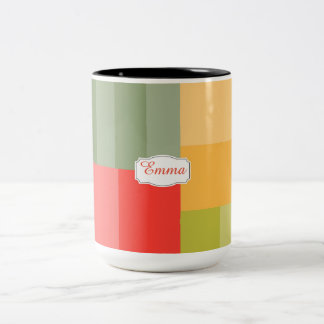 Squares&rectangles Two-Tone Coffee Mug