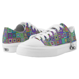 squares shoes printed shoes
