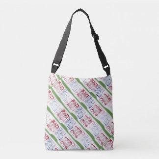 Squares Stamps Avant-Garde Pattern Crossbody Bag
