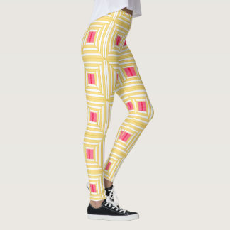 Squares with pink. leggings