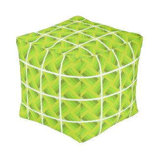 Squaring green pouf