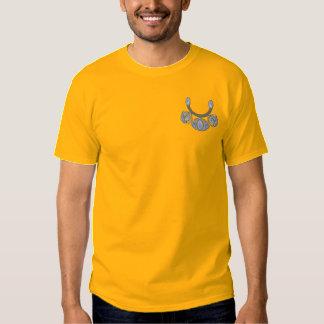 Squash Blossom Design Embroidered T-Shirt