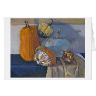 "'Squash Harvest"" - Thanksgiving Art Card"