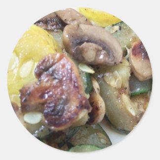 squash n mushrooms sticker