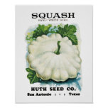 Squash Seed Packet Label Poster