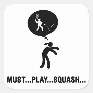 Squash Square Sticker