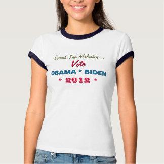 Squash The Malarkey Vote Obama Biden 2012 T-Shirt