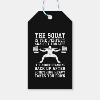 Squat Analogy For Life - Leg Day Inspirational Gift Tags
