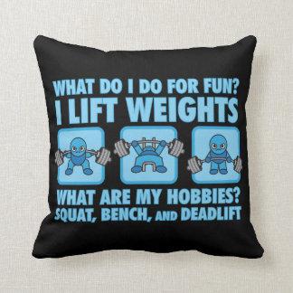 Squat, Bench Press, Deadlift - Hobbies - Kawaii Cushion