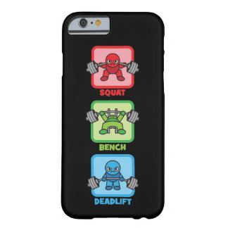 Squat, Bench Press, Deadlift - Kawaii Powerlifter Barely There iPhone 6 Case