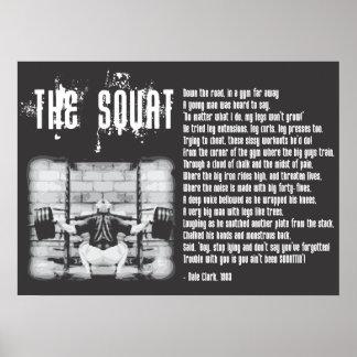 Squat Poem - Gym Poster