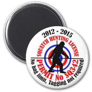 squatch hunting permit fridge magnet