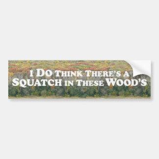 Squatch in Woods With Forest - Bumper Sticker Car Bumper Sticker