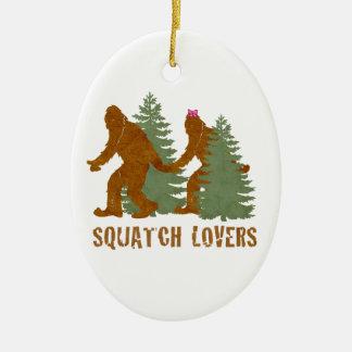 Squatch Lovers Ceramic Ornament