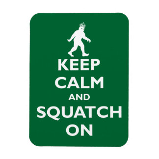 Squatch On Rectangular Photo Magnet