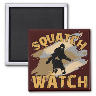 Squatch Watch Square Magnet
