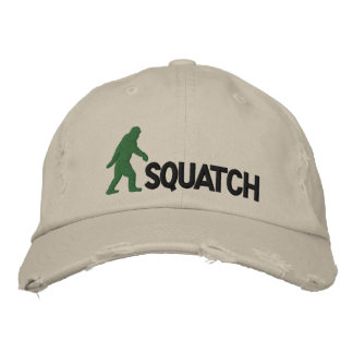 squatch with large bigfoot logo embroidered hat