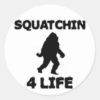 Squatchin 4 Life Classic Round Sticker