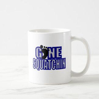 Squatchin Blue and lt Gray Logo Basic White Mug