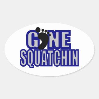 Squatchin Blue and lt Gray Logo Oval Sticker