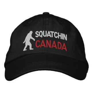 Squatchin canada embroidered hat