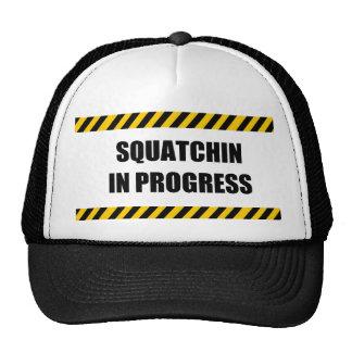 Squatchin in Progress Mesh Hats