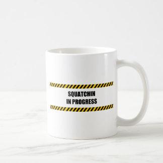 Squatchin in Progress Basic White Mug