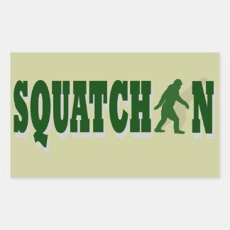 Squatchin Rectangular Sticker
