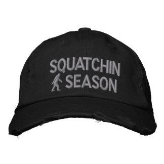 Squatchin season embroidered hat