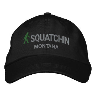 Squatchin & your state personalized embroidered hat