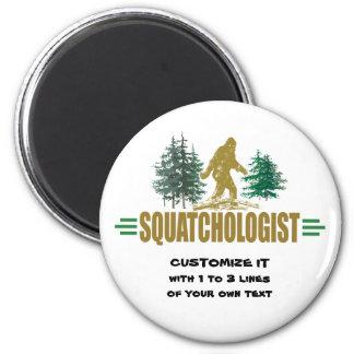 Squatching 6 Cm Round Magnet